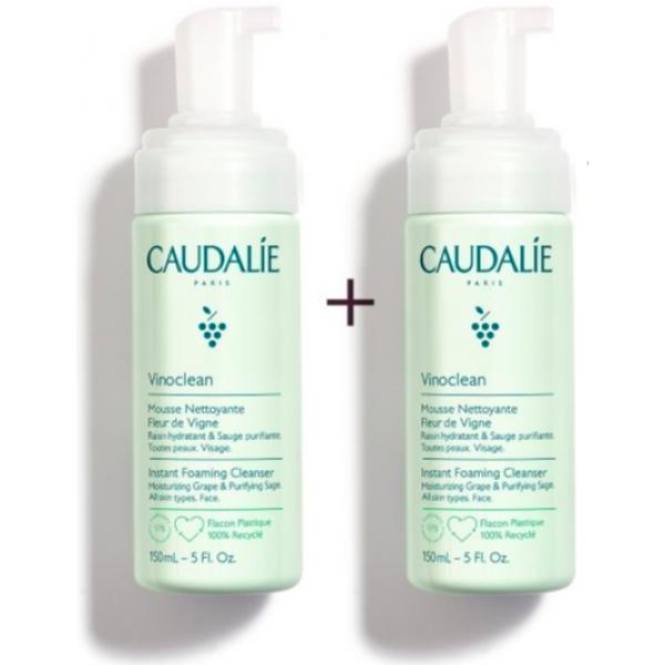Caudalie Duo Vinoclean Schiuma Detergente 150 ml + 150 ml