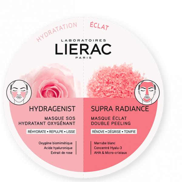 Lierac Maschera Duo Hydragenist e Supra Radiance 2x6ml