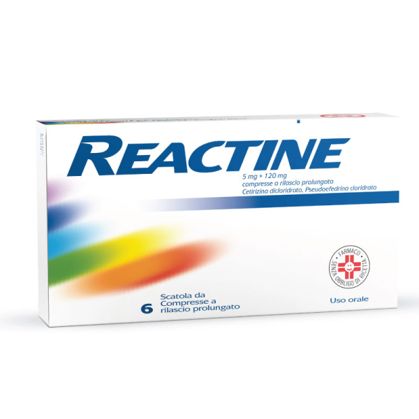 REACTINE 6 Cpr 5mg+120mg R.P.